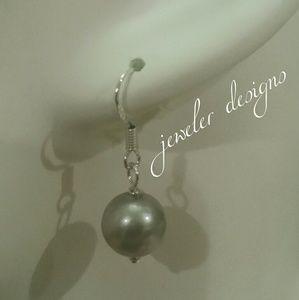 Akoya Cultured Grey Pearls in 925 size 11mm
